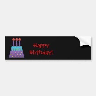 Candels coloridos do feliz aniversario do partido  adesivo para carro