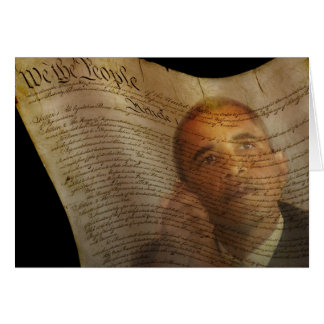 Candidato presidencial de Democrata, presidente Cartão Comemorativo