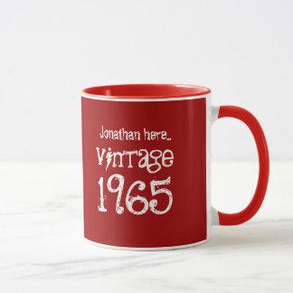 Caneca 50th Vintage 1965 do aniversário ou qualquer ano