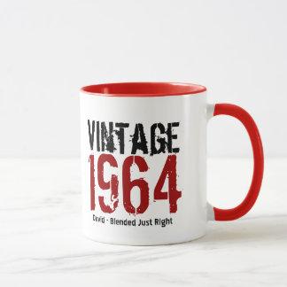 Caneca 50th Vintage do aniversário 1964 ou qualquer anos