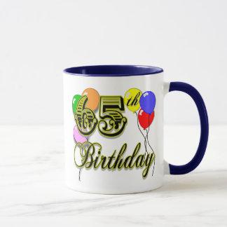 Caneca 65th mercadoria feliz do aniversário