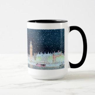 Caneca - a abadia de Westminster e Big Ben