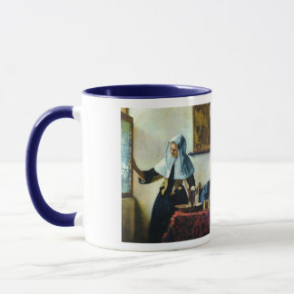 Caneca A jovem mulher de Vermeer com um jarro Ca 1665 da