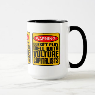 Caneca Advertir não joga bem com capitalistas do abutre