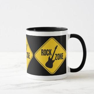 Caneca agrida, zona da rocha, guitarra, rock and roll