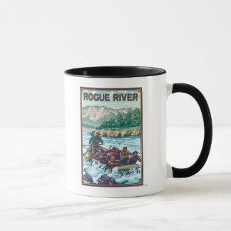 Caneca Água branca que transporta - rio desonesto, Oregon