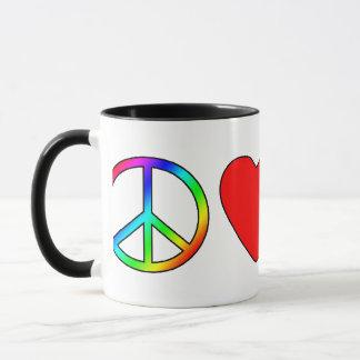 Caneca Algodão de Tulears do amor da paz