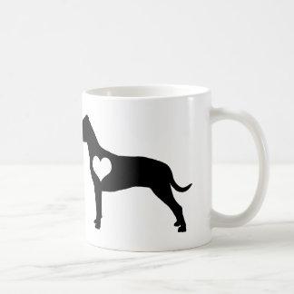 Caneca americana do coração de Terrier de pitbull