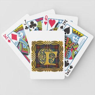 Caneca antiga do Tartan de Fraser do clã Baralhos Para Poker