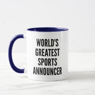 Caneca Anunciador de esportes dos mundos o grande