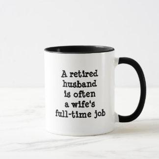 Caneca aposentada do marido