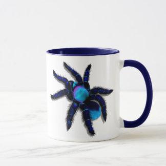 Caneca azul grande da aranha