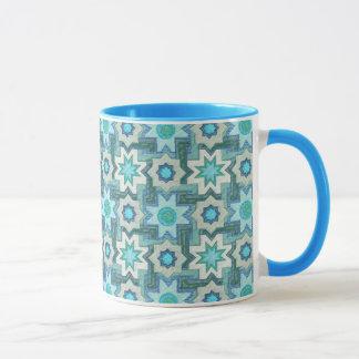 Caneca Azulejos marroquinos na cerceta