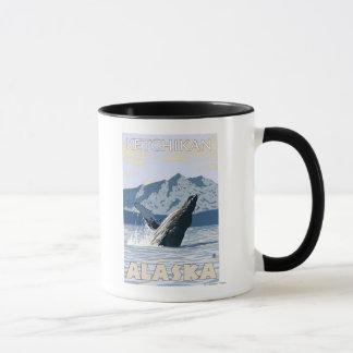 Caneca Baleia de Humpback - Ketchikan, Alaska