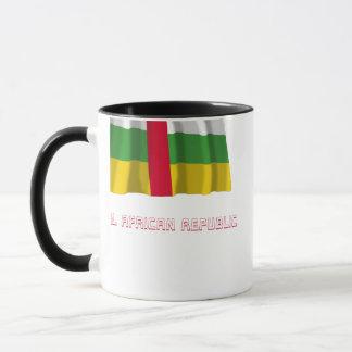 Caneca Bandeira de ondulação de Central African Republic