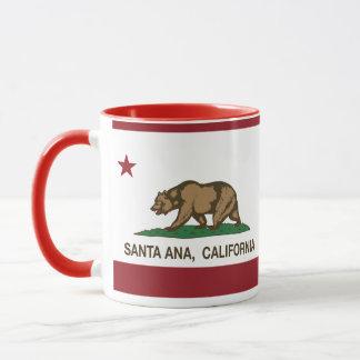 Caneca bandeira do estado de Santa Ana Califórnia