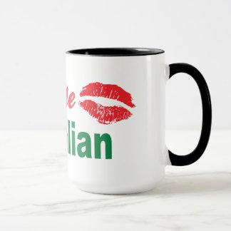 Caneca Beije-me que eu sou italiano