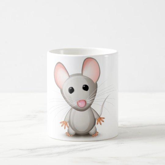 """Caneca Branca """"Rato"""""""