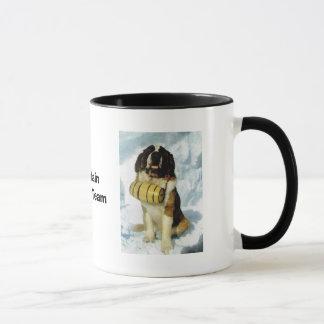 Caneca Cão de St Bernard, salvamento da montanha