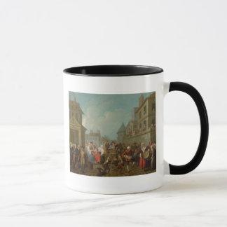 Caneca Carnaval da rua em Paris, 1757