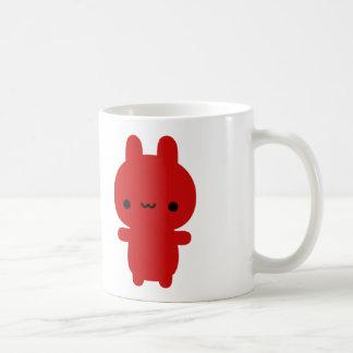 Caneca carnudo vermelha do coelho [A PERSONALIZE