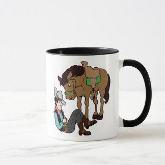 Caneca Cavalo de descanso do Siesta do vaqueiro