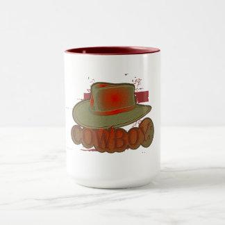 Caneca Chapéu de vaqueiro! Vermelho/Brown