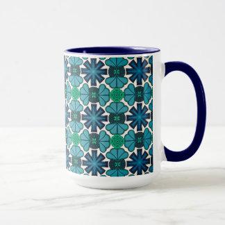 Caneca Chávena MUG Jimette Desenho azul e branco