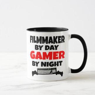 Caneca Cineasta pelo Gamer do dia em a noite