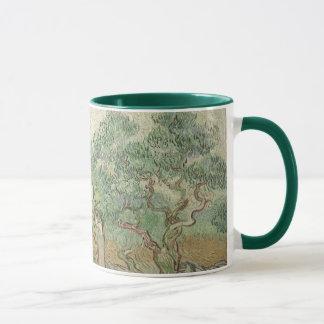 Caneca Colheita verde-oliva por Vincent van Gogh, arte do