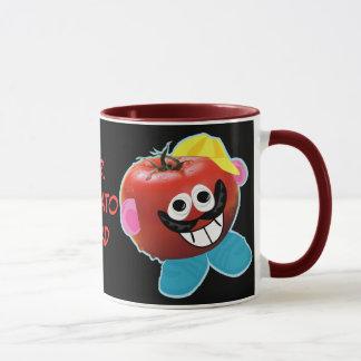 caneca cómico da paródia do Sr. tomate cabeça