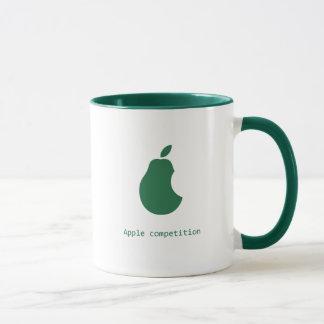 Caneca competição-pera da maçã