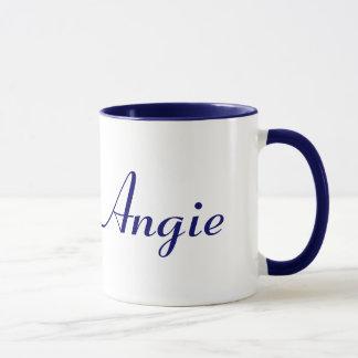 Caneca conhecida azul e branca de Angie