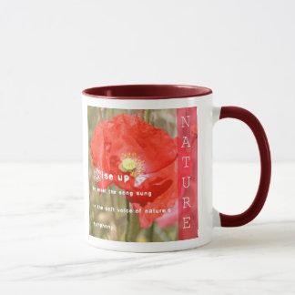 Caneca Copo de café da poesia da sinfonia da natureza