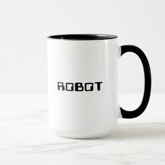 Caneca Copo de café do robô do espaço