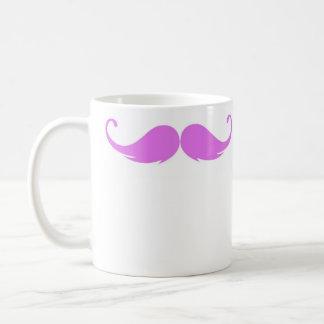 Caneca cor-de-rosa do bigode