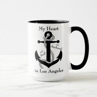 Caneca Coração e alma ancorados em Los Angeles