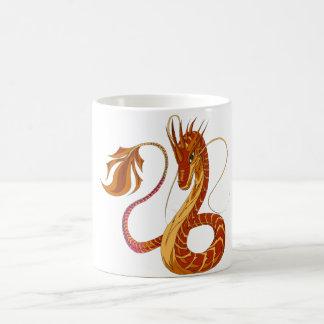 Caneca coral do dragão do fogo