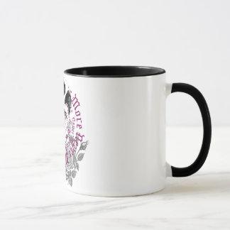 Caneca Corvo & copo cor-de-rosa