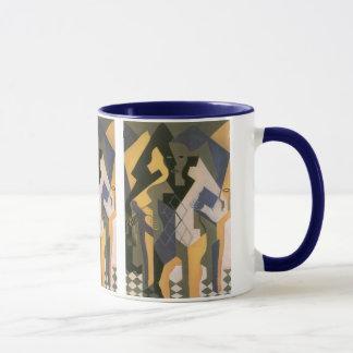 Caneca Cubism do vintage, Harlequin em uma mesa por Juan