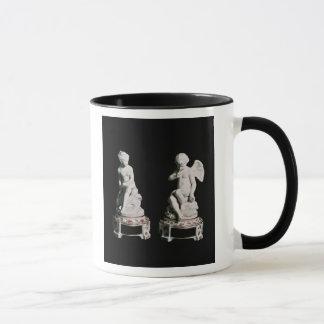 Caneca Cupido e psique, grupo de Sevres, 1758