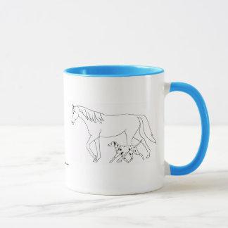 Caneca customizável: Dalmatian & cavalo