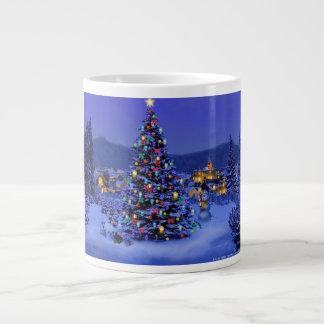 Caneca da árvore de Natal Canecas De Café Muito Grande