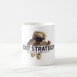 Caneca da estratégia de saída