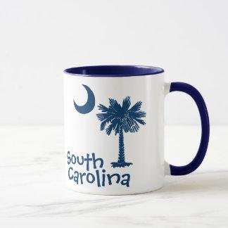 Caneca da lua do Palmetto de South Carolina