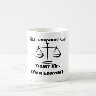 Caneca da mentira dos advogados