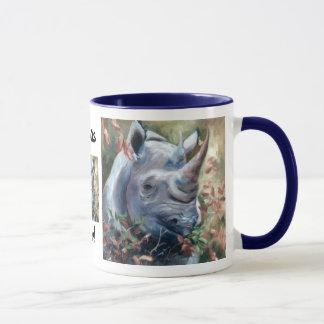 Caneca da regra dos Rhinos do rinoceronte