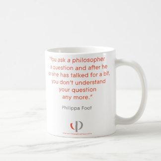 Caneca das citações do pé de Philippa