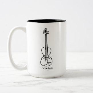 Caneca de ajustamento do violino da serração