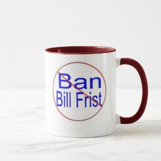 Caneca de Bill Frist da proibição